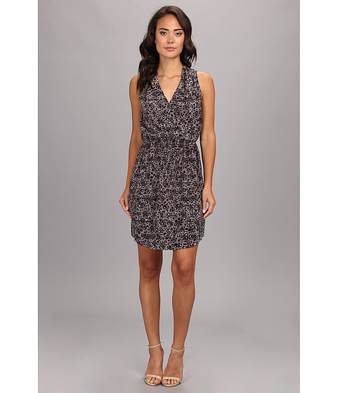 Rebecca Taylor - S/L Leo Silk Dress (Steel/Stealth Gray/Stealth Gray) Women