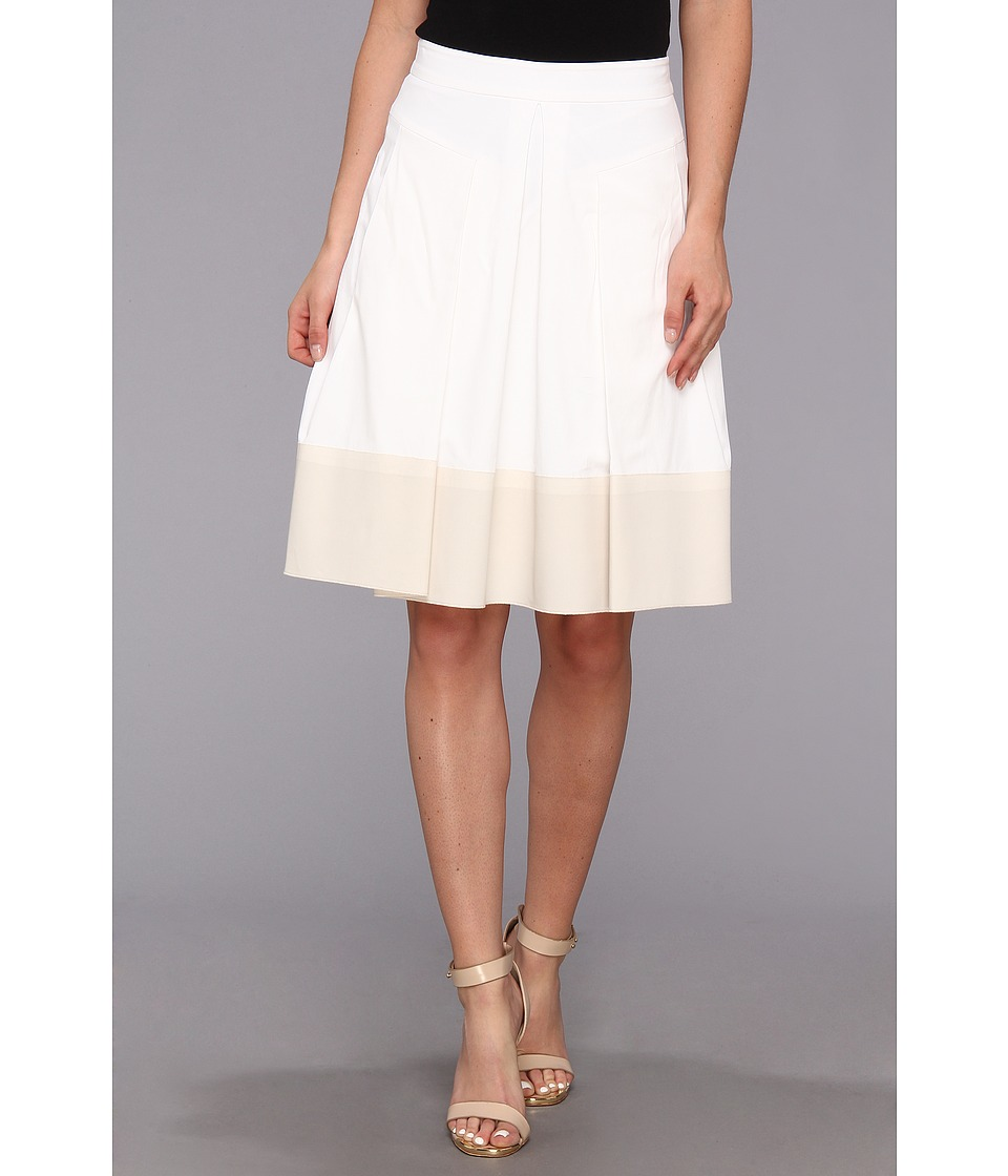 Rebecca Taylor - Poplin Skirt (White) Women's Skirt
