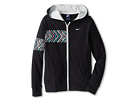Nike Kids Jersey FZ Hoody (Little Kids/Big Kids) (Black/Light Base Grey/White)