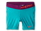 Nike Kids Pro Short (Little Kids/Big Kids) (Turbo Green/Bright Grape/Laser Crimson)