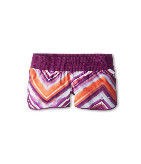 Nike Kids - Pattern W Short (Little Kids/Big Kids) (Bright Grape/White) Girl's Shorts