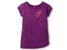 Nike Kids Run HTG Xlng Aop FT Top (Little Kids/Big Kids) (Bright Grape)
