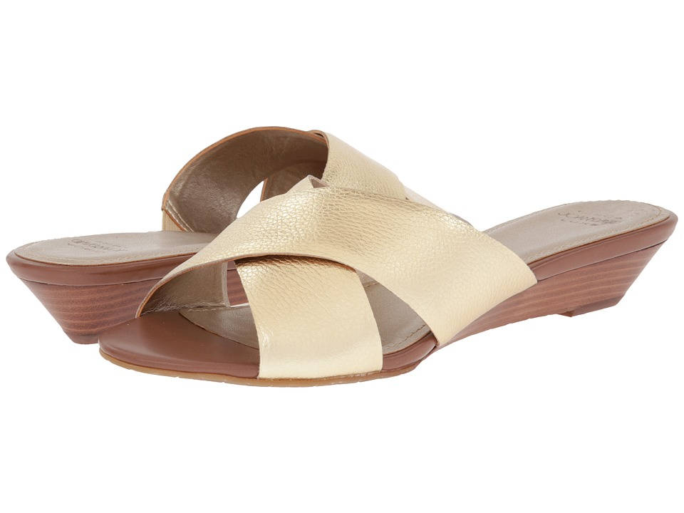 Circa Joan & David - Feliciti (Gold Leather Metallic) Women's Slide Shoes