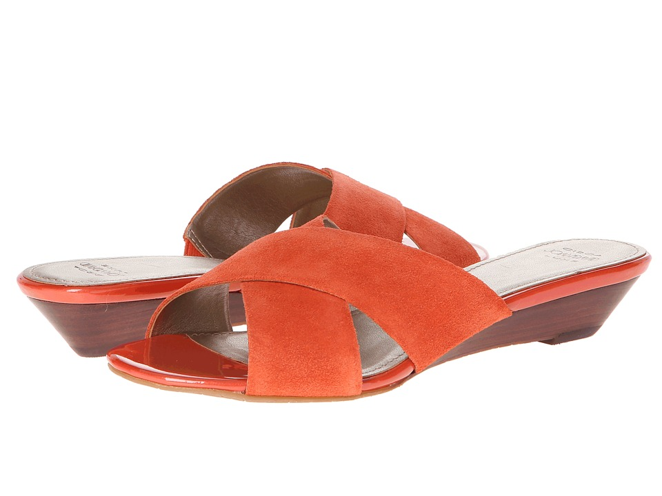 Circa Joan & David - Feliciti (Tamarind (Orange) Suede) Women's Slide Shoes