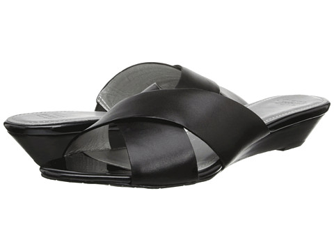 Circa Joan & David - Feliciti (Black Leather) Women's Slide Shoes