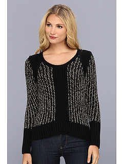 SALE! $34.99 - Save $75 on LAmade Matallic Yarn Hi Low Sweater (Black Gold) Apparel - 68.19% OFF $110.00