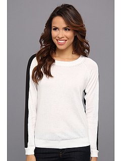 SALE! $39.99 - Save $58 on NYDJ Color Block Sweater (Optic White) Apparel - 59.19% OFF $98.00