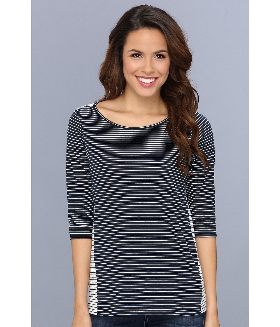 NYDJ - Blocked Stripe Top (Mediterranean) Women