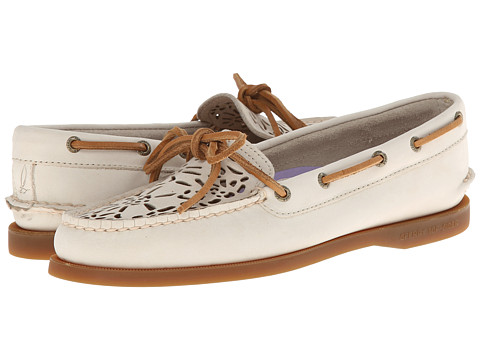 Sperry Top-Sider - A/O 1 Eye (Ivory Floral Perf) Women's Shoes