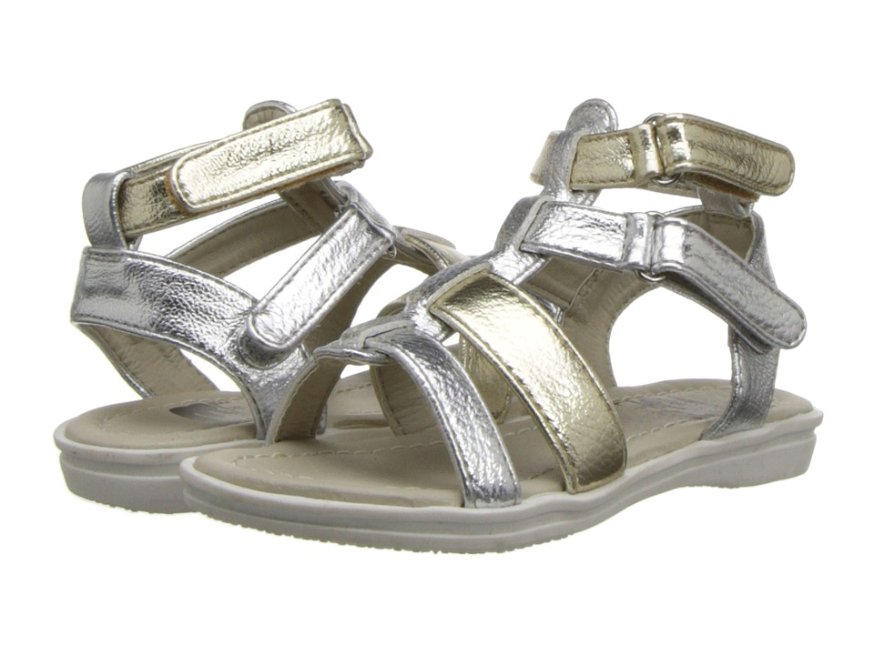 Amiana 6-A0855 (Toddler/Little Kid/Big Kid/Adult) (Silver/Gold Metallic Multi) Girls Shoes