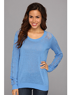 SALE! $54.99 - Save $34 on NYDJ Pointelle Sweater (Sky Blue) Apparel - 38.21% OFF $89.00
