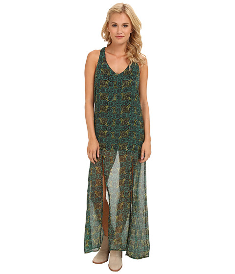 RVCA - Glenn Crinkle Chiffon Dress (Seagreen) Women