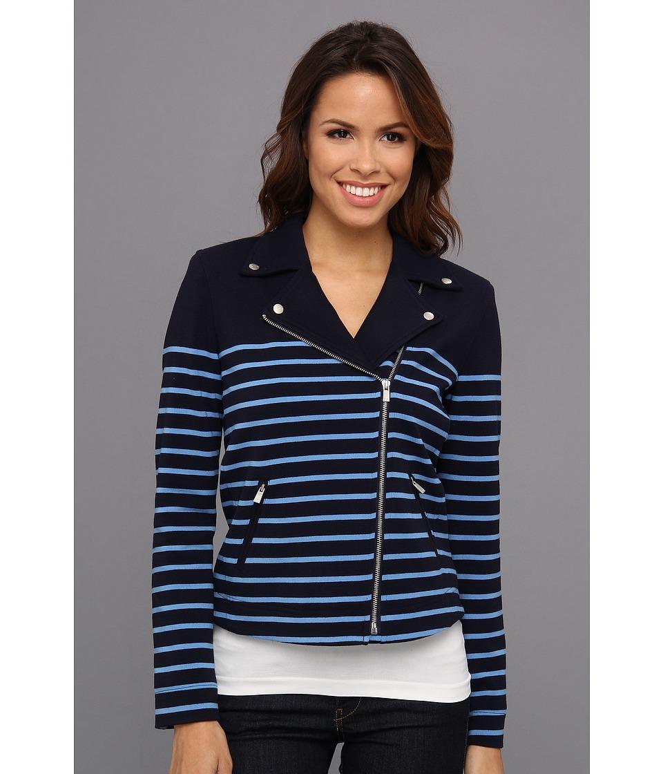 NYDJ - Stripe Ponte Jacket (Mediterranean) Women