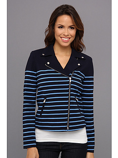 SALE! $96.99 - Save $63 on NYDJ Stripe Ponte Jacket (Mediterranean) Apparel - 39.38% OFF $160.00