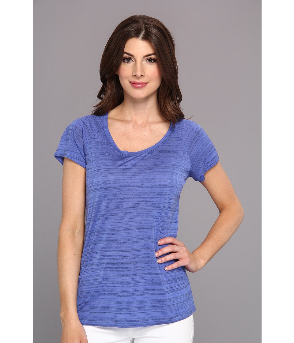 NYDJ - Etched Stripe Tee (Porcelain Blue) Women