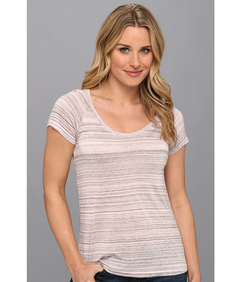 NYDJ - Etched Stripe Tee (Powder Pink) Women's T Shirt