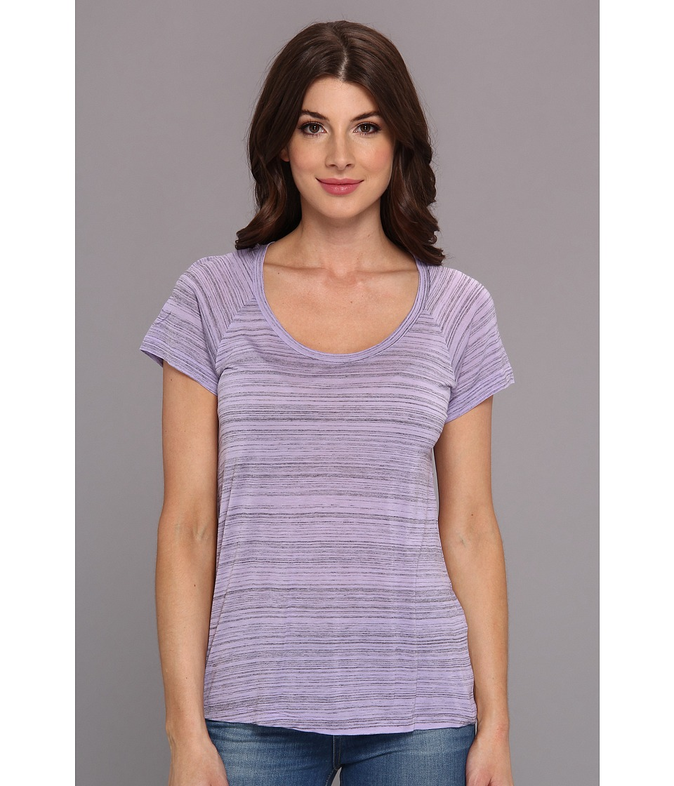 NYDJ - Etched Stripe Tee (Fair Orchid) Women's T Shirt