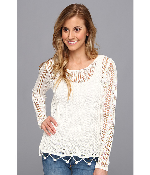 RVCA - Home Again Crochet Sweater (Vintage White) Women's Sweater
