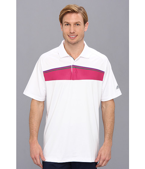 adidas Golf - Puremotion Tour CLIMACHILL Geo Print Tour Polo '14 (White 1) Men's Short Sleeve Pullover