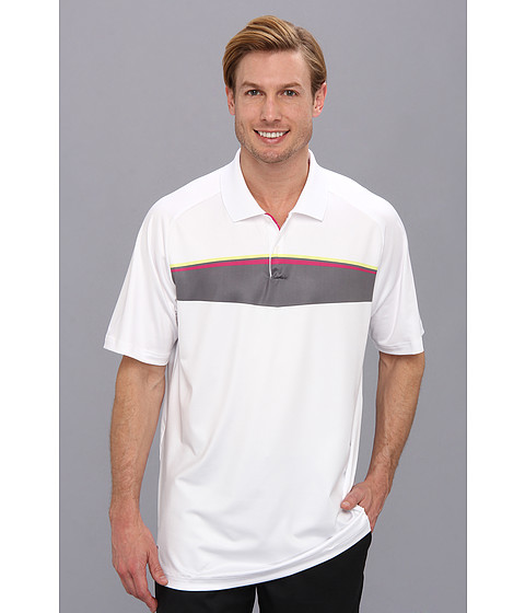 adidas Golf - Puremotion Tour CLIMACHILL Geo Print Tour Polo '14 (White 2) Men's Short Sleeve Pullover