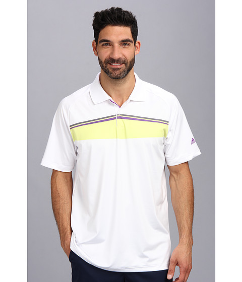 adidas Golf - Puremotion Tour CLIMACHILL Geo Print Tour Polo '14 (White 3) Men's Short Sleeve Pullover