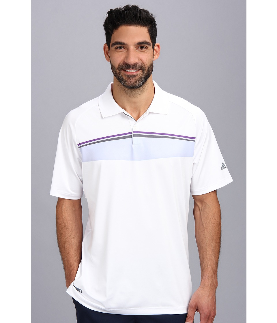adidas Golf - Puremotion Tour CLIMACHILL Geo Print Tour Polo '14 (White 4) Men's Short Sleeve Pullover