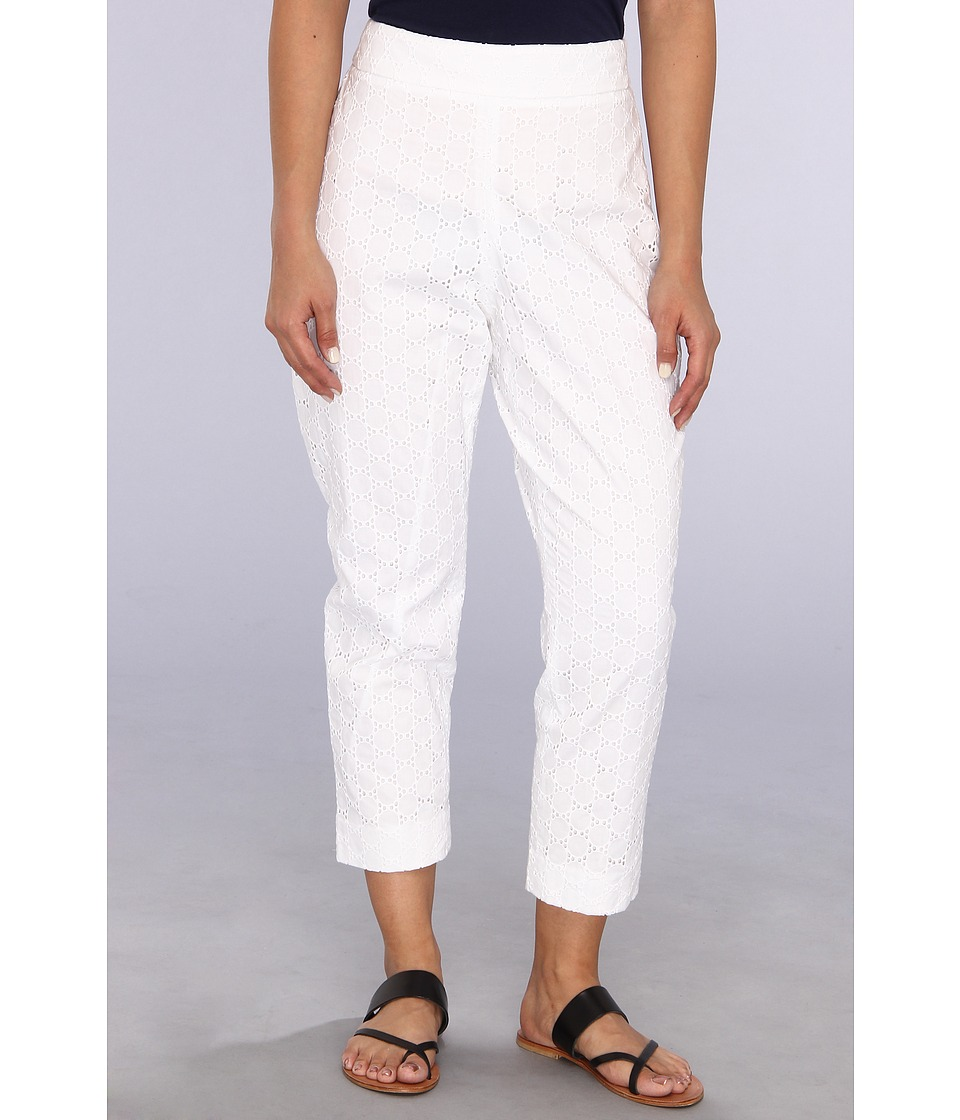 Pendleton - Petite Eyelet Capri (White Eyelet) Women's Casual Pants