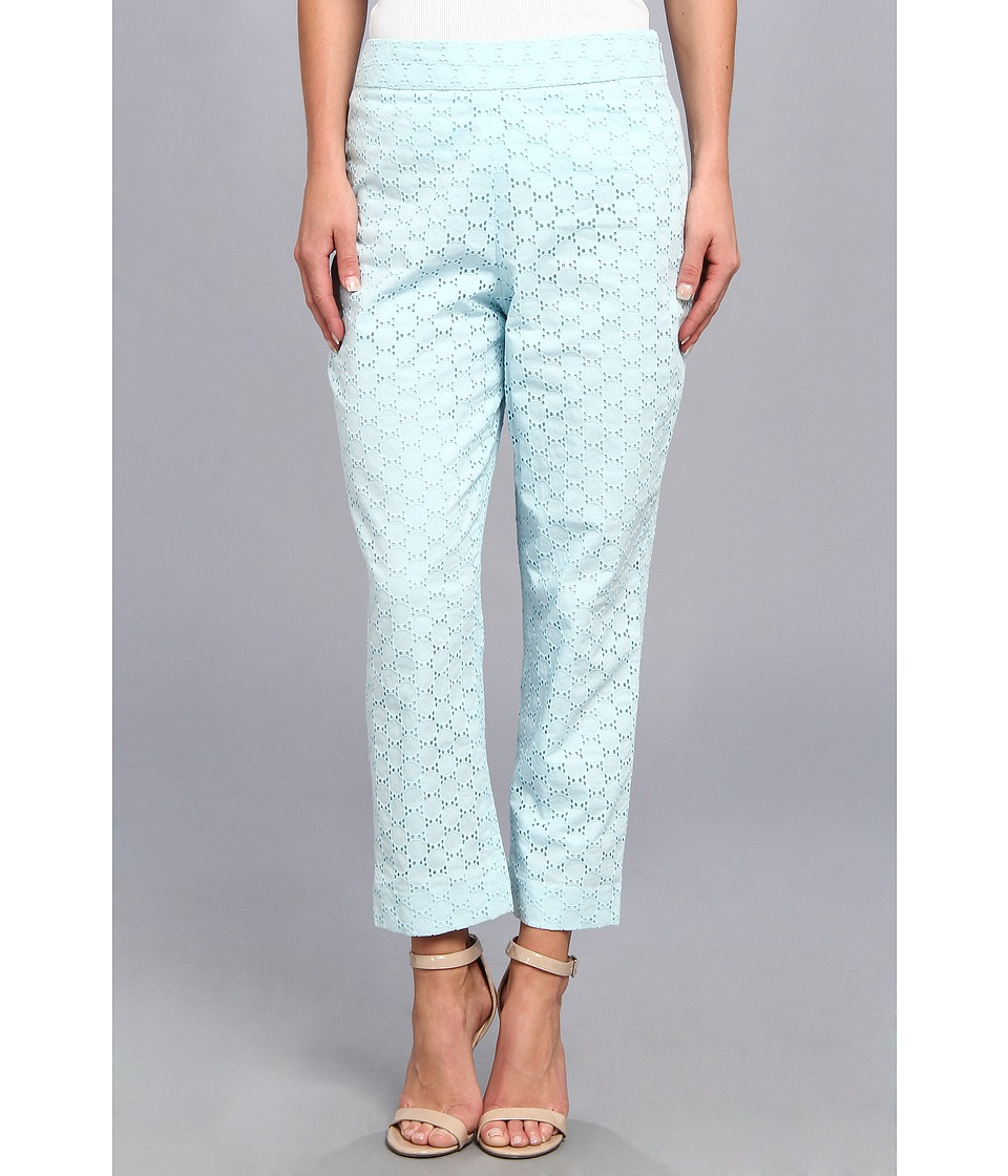 Pendleton - Eyelet Capri (Lake Blue Eyelet) Women's Casual Pants