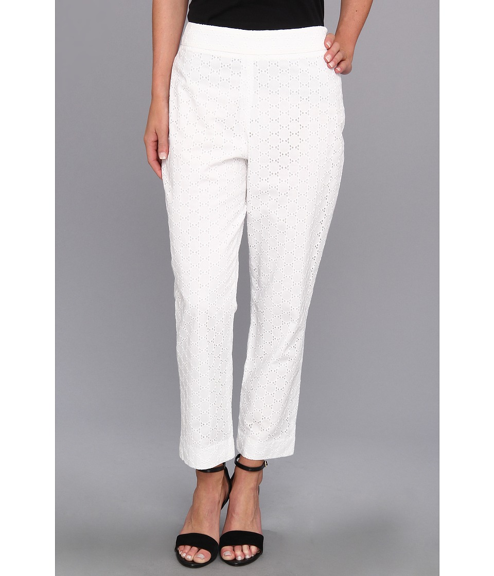 Pendleton - Eyelet Capri (White Eyelet) Women's Casual Pants