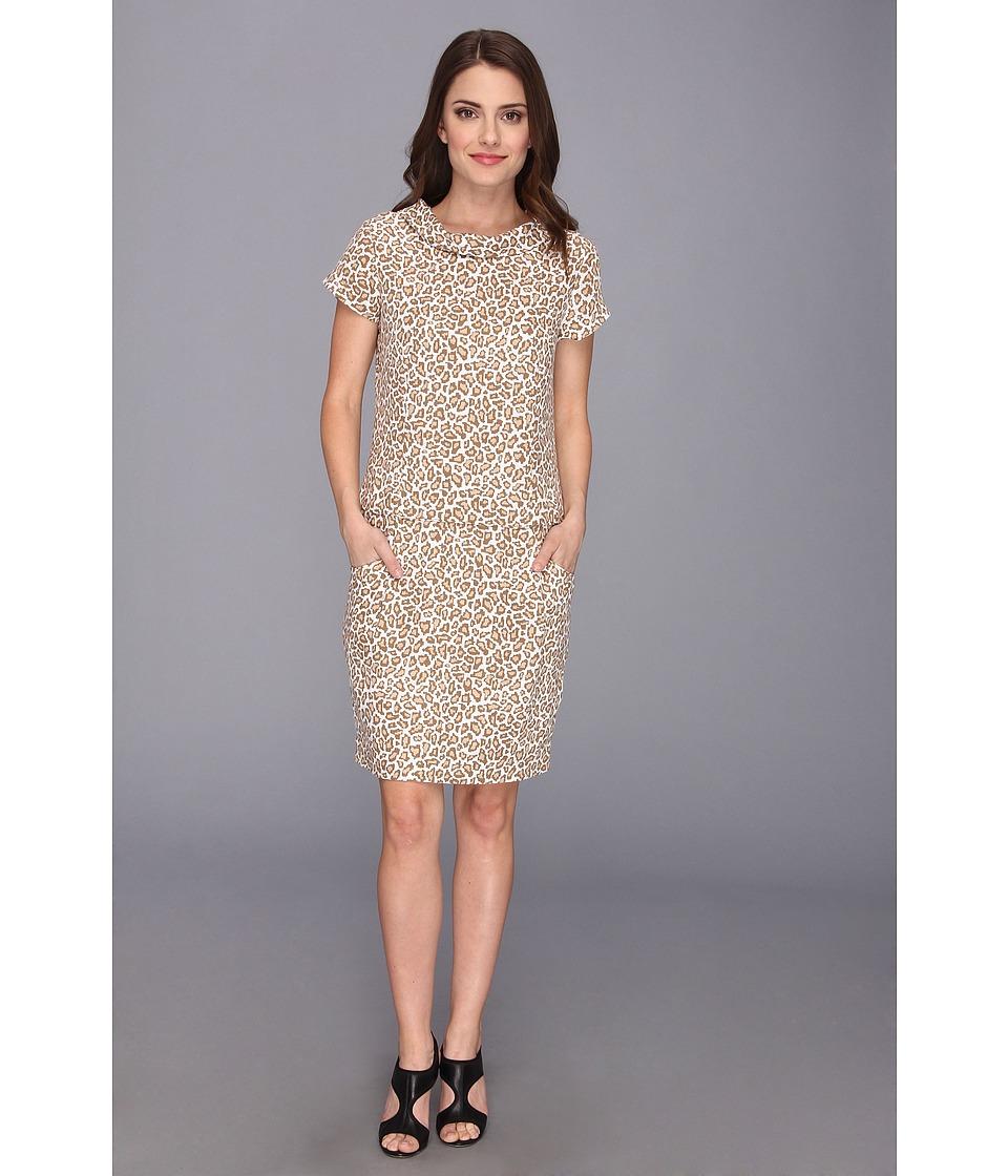 Pendleton - Petite Wild Card Dress (Oxford Tan Animal Print) Women