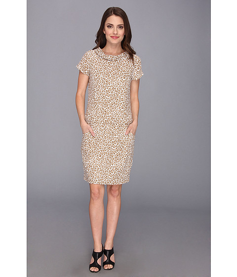 Pendleton - Petite Wild Card Dress (Oxford Tan Animal Print) Women