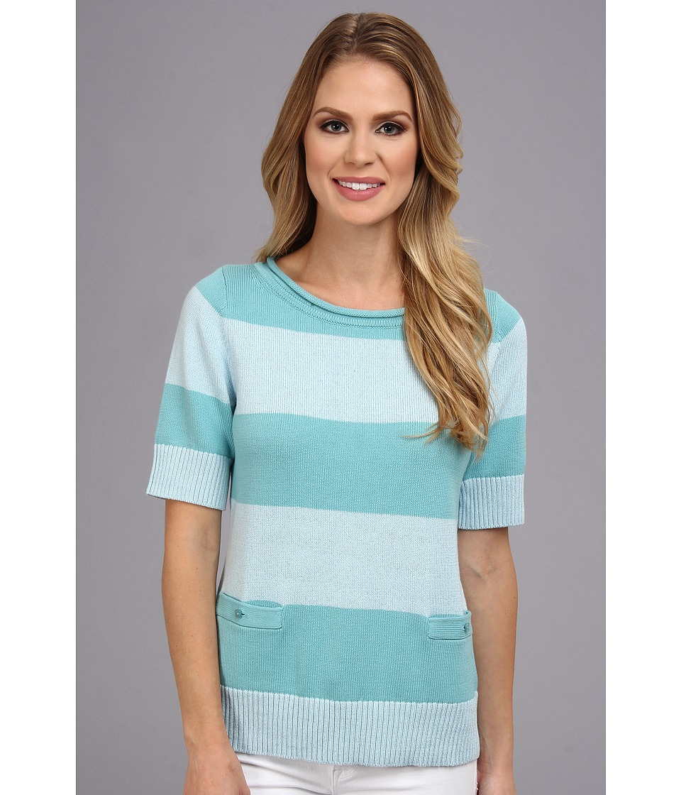 Pendleton - Two Stripe Pullover (Lake Blue/Havana Blue) Women's Sweater