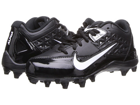 Nike Kids - Alpha Strike Low TD (Little Kid/Big Kid) (Black/Black/White Multi Snake) Boys Shoes