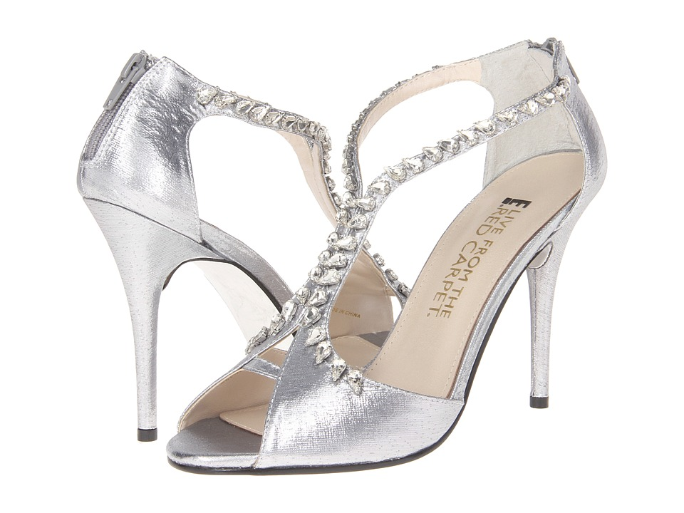 E! Live from the Red Carpet - Nadine (Silver Lame) Women's Dress Sandals
