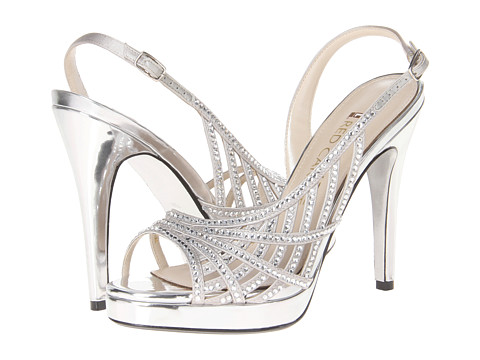E! Live from the Red Carpet - E0045 (Silver Satin) High Heels