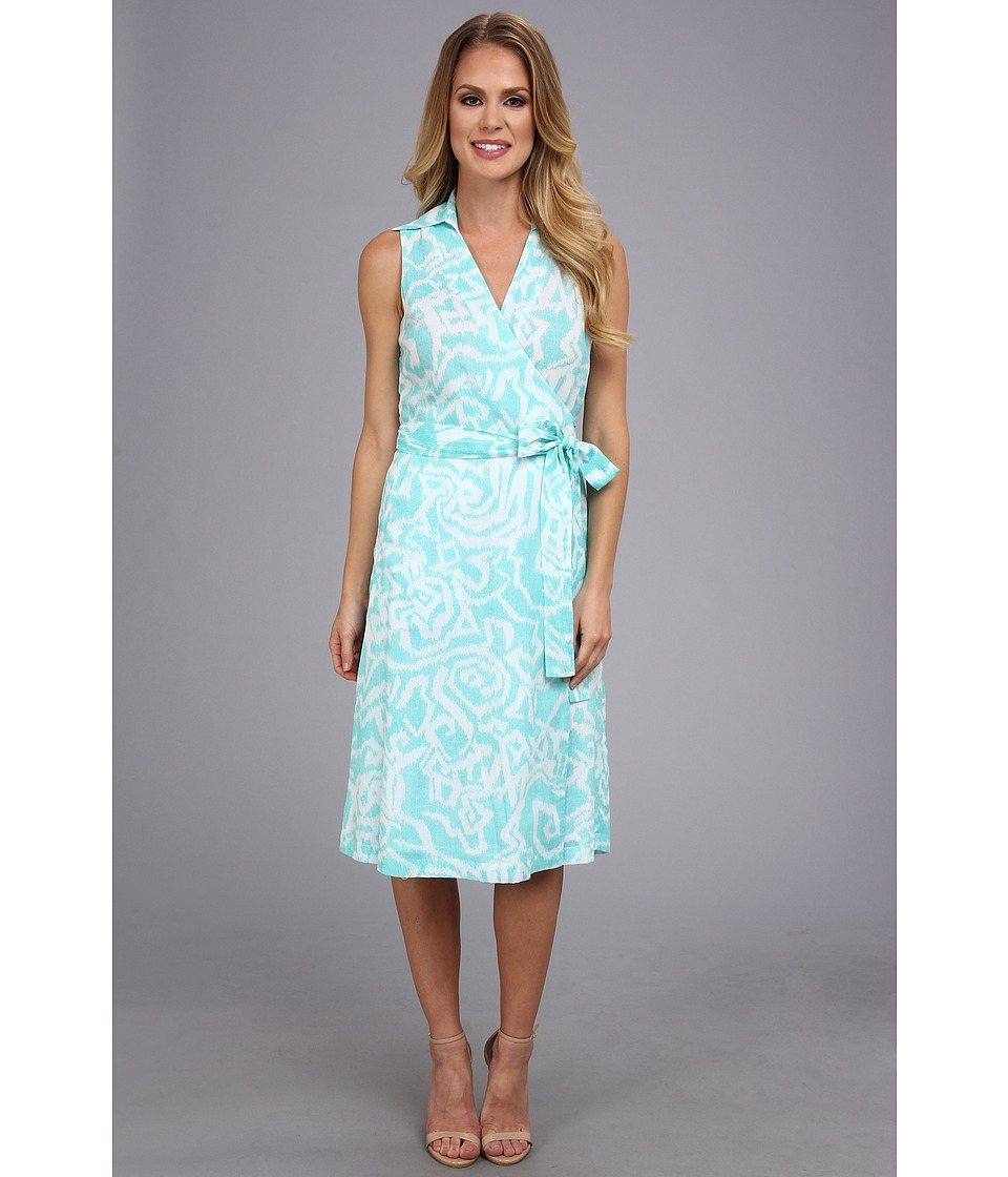 Pendleton - Vista Dress (Aqua Sky Ikat Print) Women