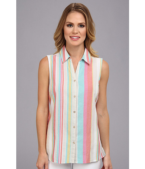 Pendleton - Santa Cruz Sleeveless Shirt (Crinkle Stripe Multi) Women's Sleeveless