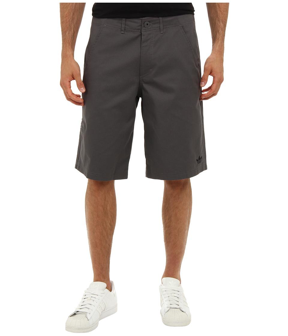 adidas Originals - 3-Stripes Clean Short (Sharp Grey/Black) Men's Shorts
