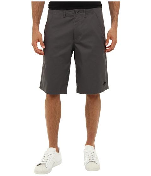 adidas Originals - 3-Stripes Clean Short (Sharp Grey/Black) Men