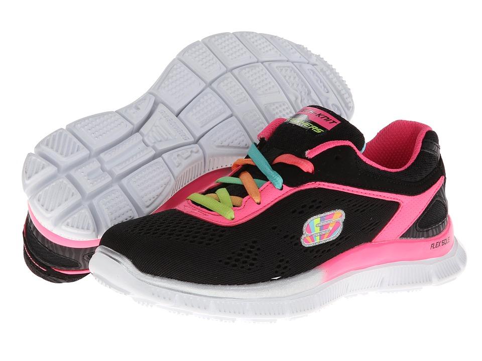 SKECHERS KIDS - Skech Appeal - Whimz (Little Kid/Big Kid) (Black Multi) Girls Shoes