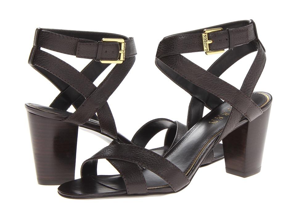 LAUREN Ralph Lauren Luna (Dark Brown Soft Tmbld Leather) High Heels