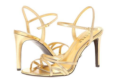 LAUREN by Ralph Lauren - Sammy (RL Gold Metallic Kidskin) High Heels