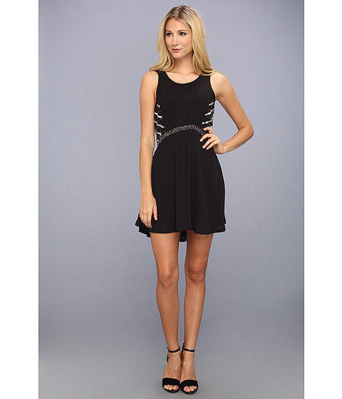 LAmade - Georgette beaded Dress (Black) Women's Dress