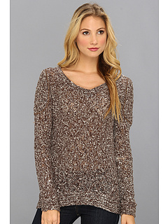 SALE! $46.99 - Save $56 on LAmade Chuncky Slub V Neck (Brown Cream) Apparel - 54.38% OFF $103.00