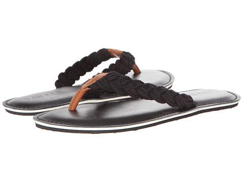 LAUREN by Ralph Lauren - Edythe (Black/Polo Tan N Rope BRD/Leather) Women's Sandals