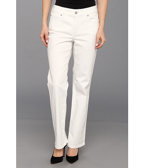 NYDJ Petite - Petite Marilyn Straight Leg (Optic White) Women's Jeans