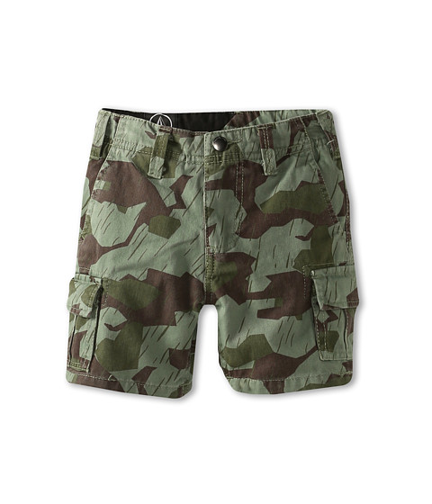 Volcom Kids - Slargo Cargo Short (Big Kids) (Military) Boy's Shorts