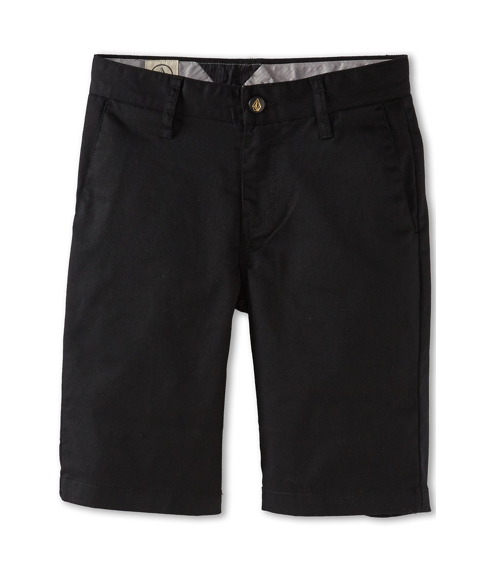 Volcom Kids - Frickin Modern Stretch Short (Big Kids) (Black) Boy's Shorts