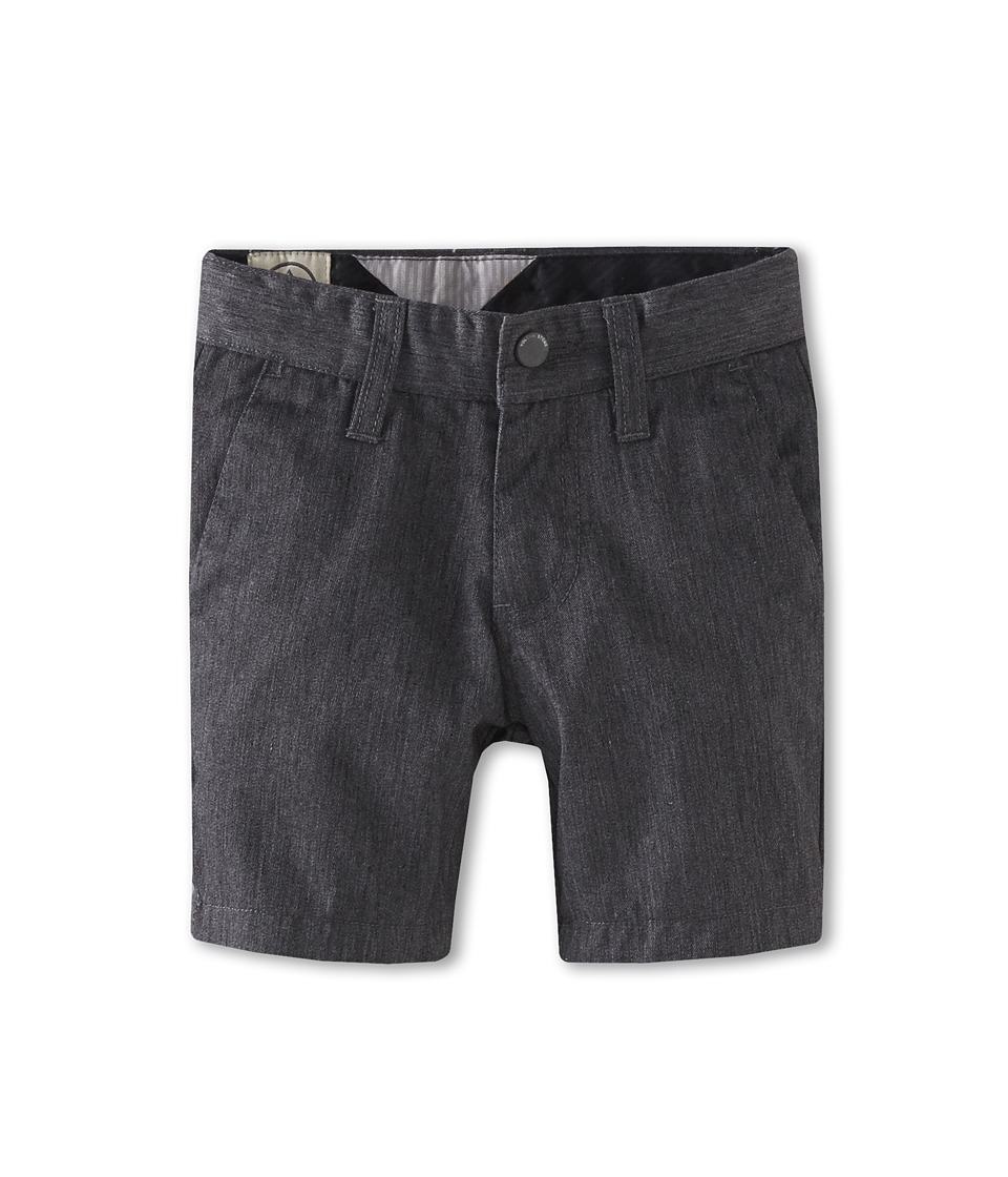 Volcom Kids - Frickin Chino Short (Toddler/Little Kids) (Charcoal Heather) Boy's Shorts