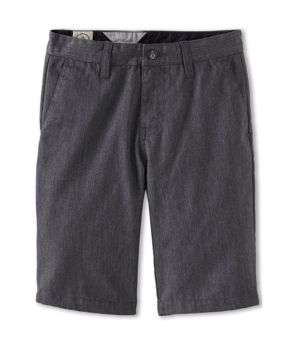 Volcom Kids - Frickin Chino Short (Big Kids) (Charcoal Heather) Boy's Shorts
